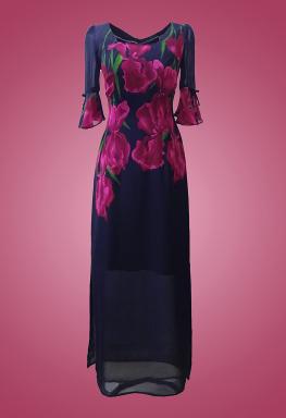 Đầm maxi voan